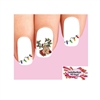Christmas Holiday Reindeer & Lights Assorted Waterslide Nail Decals