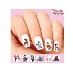 Rudolph the Red Nosed Reindeer Assorted Waterslide Nail Decals