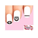 University of Georgia Bulldogs Assorted Waterslide Nail Decals