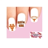 University of Texas at Austin Longhorns Assorted Set of 20 Waterslide Nail Decals