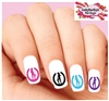 Cowgirl Horseshoe Silhouette Assorted Set of 20 Waterslide Nail Decals