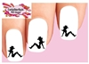 Cowgirl Sitting Sexy Silhouette Set of 20 Waterslide Nail Decals
