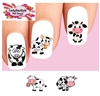 Cute Cows Assorted Set of 20 Waterslide Nail Decals