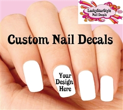 Custom Order - Your Design or Idea - Set of 20 Waterslide Nail Decals