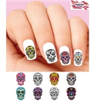 Day of the Dead Sugar Skulls Set of 48 Waterslide Nail Decals