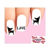 Chihuahua Love Heart Silhouette Assorted Waterslide Nail Decals