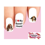 Basset Hound Assorted Waterslide Nail Decals