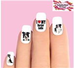Border Collie Assorted Set of 20 Waterslide Nail Decals