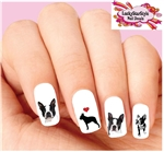 Boston Terrier Assorted Set of 20 Waterslide Nail Decals