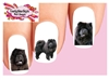 Chow Chow Black Assorted Set of 20 Waterslide Nail Decals