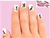 German Shepherd Assorted Set of 20 Waterslide Nail Decals