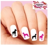 Great Dane Silhouette Assorted Set of 20 Waterslide Nail Decals