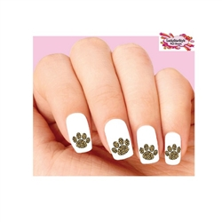 Leopard Print Paw Waterslide Nail Decals