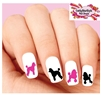 Poodle Assorted Set of 20 Waterslide Nail Decals