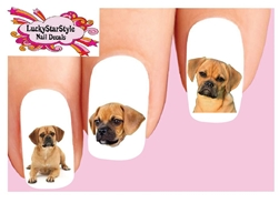 Puggle Assorted Set of 20 Waterslide Nail Decals