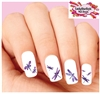 Purple Dragonfly Assorted Set of 20 Waterslide Nail Decals