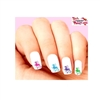 Colorful Dragons Assorted Set of 20 Waterslide Nail Decals