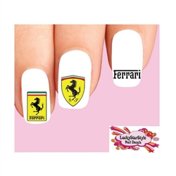 Ferrari Assorted Set of 20 Waterslide Nail Decals
