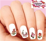 Victorian Pink Roses Assorted Set of 20 Waterslide Nail Decals