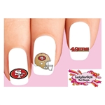 San Francisco 49ers Football Assorted Waterslide Nail Decals
