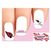 Arizona Cardinals Football Assorted Waterslide Nail Decals