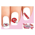 Kansas City Chiefs Football Assorted Waterslide Nail Decals