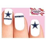 Dallas Cowboys Football Assorted Waterslide Nail Decals