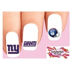 New York Giants Football Assorted Waterslide Nail Decals