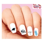 Carolina Panthers Football Assorted Waterslide Nail Decals
