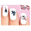 New England Patriots Football Assorted Waterslide Nail Decals