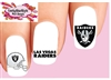 Las Vegas Raiders Football Assorted Set of 20 Waterslide Nail Decals