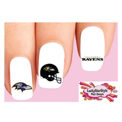 Baltimore Ravens Football Assorted Waterslide Nail Decals