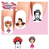 Frida Kahlo Assorted #2 Set of 20 Waterslide Nail Decals