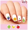 Fruit Apple Orange Bananas Cherries Assorted Waterslide Nail Decals Waterslide Nail Decals