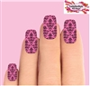 Pink & Black Baroque Set of 10 Waterslide Full Nail Decals