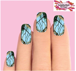 Light Blue Mossy Oak Camo Camouflage Realtree Waterslide Full Nail Decals