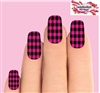 Pink Buffalo Plaid Set of 10 Waterslide Full Nail Decals
