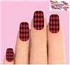 Red Buffalo Plaid Set of 10 Waterslide Full Nail Decals