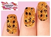 Chocolate Chip Cookie Set of 10 Full Waterslide Nail Decals