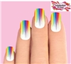 Colorful Rainbow Paint Dripping Set of 10 Waterslide Full Nail Decals