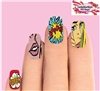 Vintage Comic Pop Art Dots Kapow Boom Set of 10 Waterslide Full Nail Decals