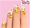 Fall Autumn Leaves Set of 10 Waterslide Full Nail Decals