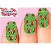 Footballs Field Set of 10 Full Waterslide Nail Decals