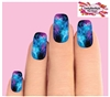 Pink & Purple Galaxy Stars Set of 10 Full Waterslide Nail Decals