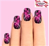 Hot Pink Realtree Mossy Oak Camo Camouflage Set of 10 Waterslide Full Nail Decals