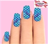 Blue Mermaid Tail Fish Scales Set of 10 Full Waterslide Nail Decals