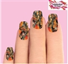 Orange Oak  Realtree Mossy Camo Set of 10 Waterslide Full Nail Decals