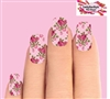 Pink Roses Set of 10 Full Waterslide Nail Decals