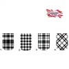 Black Plaid Set of 10 Full Waterslide Nail Decals