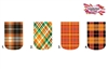 Orange Plaid Set of 10 Full Waterslide Nail Decals